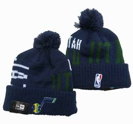 Mens Nba Utah Jazz Blue&green Sport Knit Hats