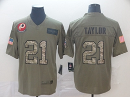 Mens Nfl Washington Redskins #21 Sean Taylor 2019 Green Olive Camo Salute To Service Nike Limited Jersey