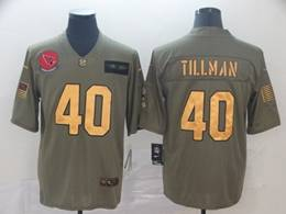 Mens Nfl Arizona Cardinals #40 Pat Tillman 2019 Green Olive Gold Number Salute To Service Limited Jersey