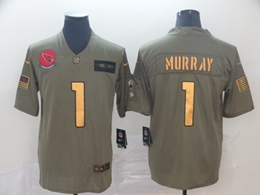Mens Nfl Arizona Cardinals #1 Kyler Murray 2019 Green Olive Gold Number Salute To Service Limited Jersey