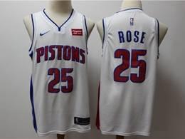 Mens Nba Detroit Pistons #25 Derrick Rose White Nike Swingman Jersey