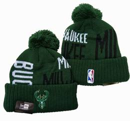 Mens Nba Milwaukee Bucks Green&white New Sport Knit Hats One Color