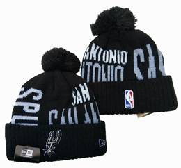 Mens Nba San Antonio Spurs Black&white New Sport Knit Hats One Color