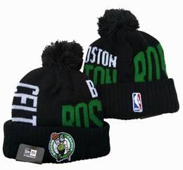 Mens Nba Boston Celtics Black&green Sport Knit Hats