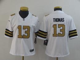 Women Nfl New Orleans Saints #13 Michael Thomas White Color Rush Vapor Untouchable Limited Player Jersey