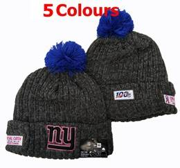 Mens Nfl New York Giants Black&red 100th New Sport Knit Hats 5 Colors