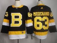 Mens Nhl Boston Bruins #63 Brad Marchand Black Third Adidas Jersey