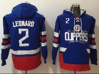Mens Youth Nba Los Angeles Clippers #2 Kawhi Leonard Blue With Pocket Hoodie Jersey