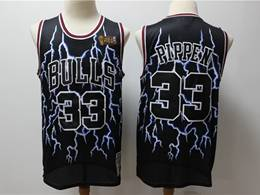 Mens Nba Chicago Bulls #33 Scottie Pippen Black Hardwood Classics Light Limited Jersey