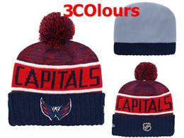 Mens Nhl Washington Capitals Red&blue Sport Knit Hats 3 Colors