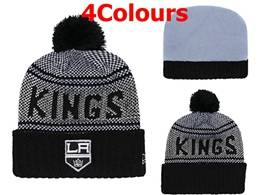 Mens Nhl Los Angeles Kings Black&white New Sport Knit Hats 4 Colors