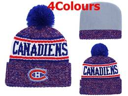 Mens Nhl Montreal Canadiens Blue&white&red Sport Knit Hats 4 Colors