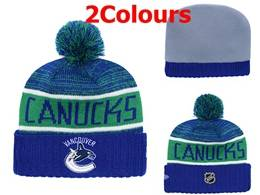 Mens Nhl Vancouver Canucks Blue&white Sport Knit Hats 2 Colors