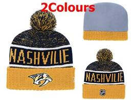 Mens Nhl Nashville Predators Yellow&black Sport Knit Hats 2 Colors