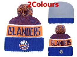 Mens Nhl New York Islanders Blue&orange Sport Knit Hats 2 Colors