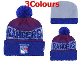 Mens Nhl New York Rangers Blue&red&black Sport Knit Hats 3 Colors