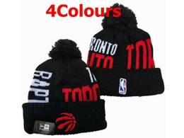 Mens Nba Toronto Raptors Black&red Sport Knit Hats 4 Colors