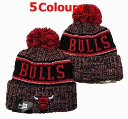 Mens Nba Chicago Bulls Red&black&gray Sport Knit Hats 5 Colors