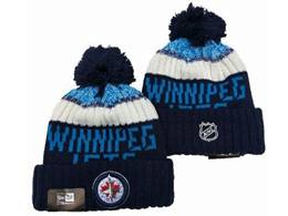 Mens Nhl Winnipeg Jets Blue&white Sport Knit Hats