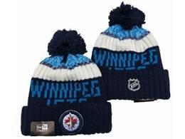 Mens Nhl Winnipeg Jets Blue&white Sport Knit Hats