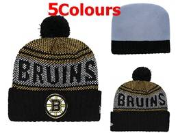 Mens Nhl Boston Bruins Yellow&black&white New Sport Knit Hats 5 Colors