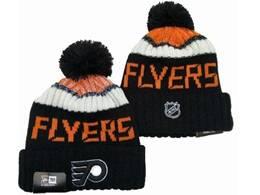 Mens Nhl Philadelphia Flyers Orange&black Sport Knit Hats