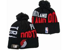 Mens Nba Portland Trail Blazers Black&red Sport Knit Hats