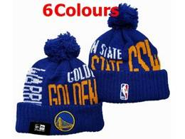 Mens Nba Golden State Warriors Gray Sport Knit Hats 6 Colors