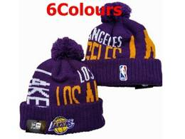 Mens Nba Los Angeles Lakers Purple&yellow&gray Sport Knit Hats 6 Colors