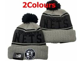 Mens Nba Brooklyn Nets Gray&black New Sport Knit Hats 2 Colors