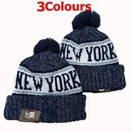 Mens Mlb New York Yankees Blue&gray Sport Knit Hats 3 Colors