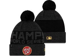 Mens Mlb Washington Nationals Black New Sport Knit Hats