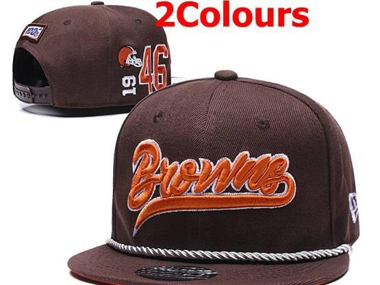 Mens Nfl Cleveland Browns Black&brown Snapback Hats 2 Colors
