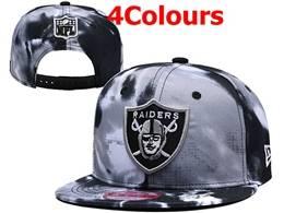 Mens Nfl Oakland Raiders Black&white Snapback Hats 4 Colors