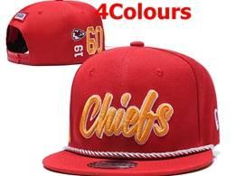 Mens Nfl Kansas City Chiefs Red&black Snapbackhats 4 Colors
