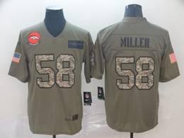 Mens Nfl Denver Broncos #58 Von Miller 2019 Green Olive Camo Salute To Service Nike Limited Jersey
