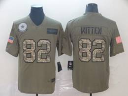 Mens Nfl Dallas Cowboys #82 Jason Witten 2019 Green Olive Camo Salute To Service Nike Limited Jersey