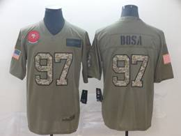 Mens Nfl San Francisco 49ers #97 Nick Bosa 2019 Green Olive Camo Salute To Service Nike Limited Jersey