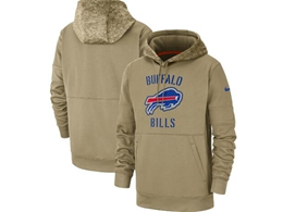 Mens Nfl Buffalo Bills Nike Tan 2019 Salute To Service Sideline Therma Pocket Pullover Hoodie
