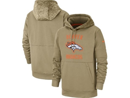 Mens Nfl Denver Broncos Nike Tan 2019 Salute To Service Sideline Therma Pocket Pullover Hoodie
