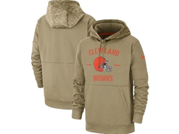 Mens Nfl Cleveland Browns Nike Tan 2019 Salute To Service Sideline Therma Pocket Pullover Hoodie