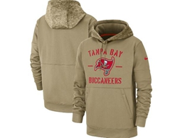 Mens Nfl Tampa Bay Buccaneers Nike Tan 2019 Salute To Service Sideline Therma Pocket Pullover Hoodie