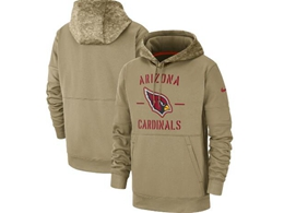 Mens Nfl Arizona Cardinals Nike Tan 2019 Salute To Service Sideline Therma Pocket Pullover Hoodie