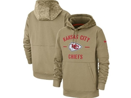 Mens Nfl Kansas City Chiefs Nike Tan 2019 Salute To Service Sideline Therma Pocket Pullover Hoodie