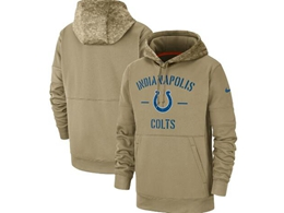 Mens Nfl Indianapolis Colts Nike Tan 2019 Salute To Service Sideline Therma Pocket Pullover Hoodie