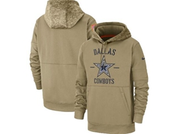 Mens Nfl Dallas Cowboys Nike Tan 2019 Salute To Service Sideline Therma Pocket Pullover Hoodie