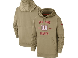 Mens Nfl New York Giants Nike Tan 2019 Salute To Service Sideline Therma Pocket Pullover Hoodie