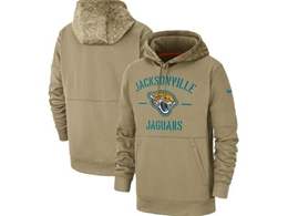 Mens Nfl Jacksonville Jaguars Nike Tan 2019 Salute To Service Sideline Therma Pocket Pullover Hoodie