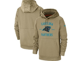 Mens Nfl Carolina Panthers Nike Tan 2019 Salute To Service Sideline Therma Pocket Pullover Hoodie