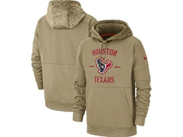 Mens Nfl Houston Texans Nike Tan 2019 Salute To Service Sideline Therma Pocket Pullover Hoodie
